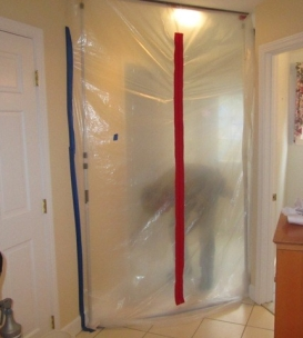 Dust control poly wall